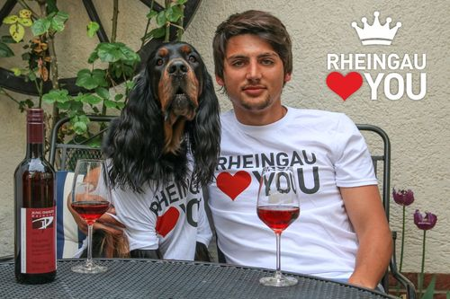 "T-Shirt  ""Rheingau Loves You"""